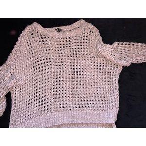 EXPRESS Waffle Knit Sweater